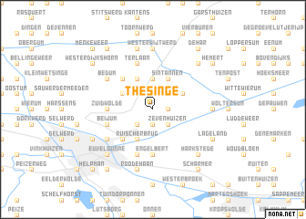 map of Thesinge
