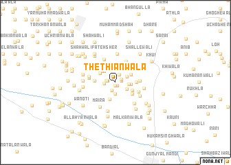 map of Thethiānwāla