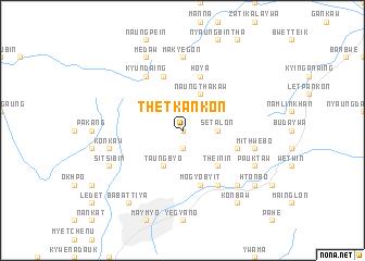 map of Thet-kan-kon