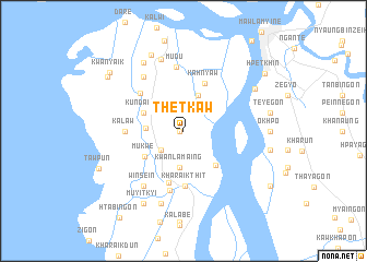 map of Thetkaw