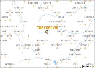 map of Thetkegyin