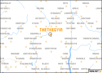 map of Thetkegyin