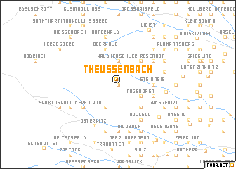 map of Theussenbach