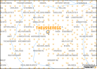 map of Theußenegg