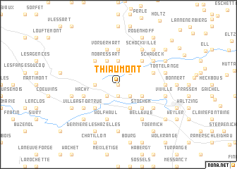 map of Thiaumont