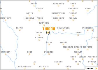 map of Thidôn