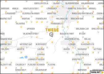 map of Thiede