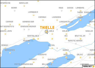 map of Thielle