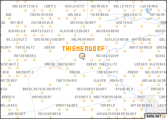map of Thiemendorf