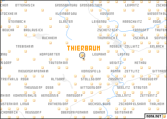 map of Thierbaum