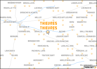 map of Thièvres