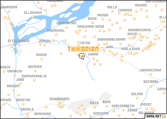 map of Thikariān
