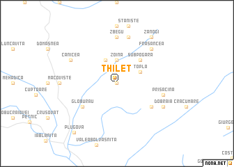 map of Thileţ