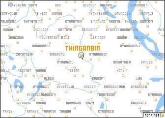 map of Thinganbin