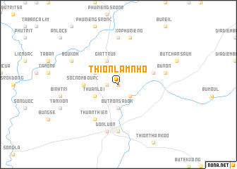 map of Thion Lâm Nho