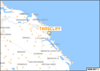 map of Third Cliff