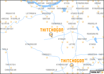 map of Thitchogon