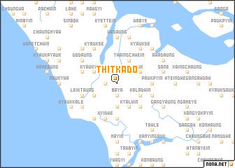 map of Thitkado
