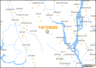 map of Thitkaung