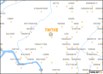 map of Thitke