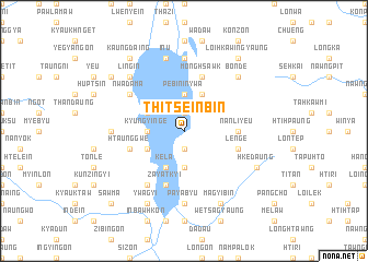 map of Thitseinbin