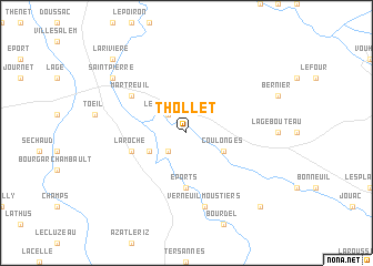 map of Thollet