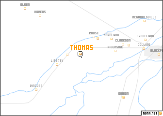 map of Thomas