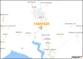 map of Thompson