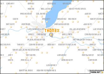 map of Thônex