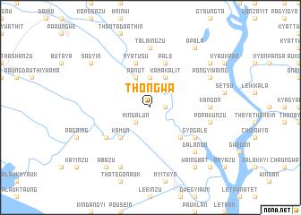 map of Thongwa
