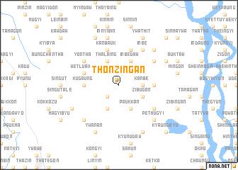 map of Thonzingan