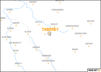 map of Thorney