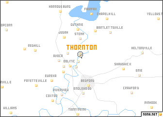 map of Thornton