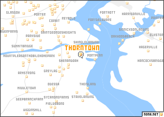 map of Thorntown