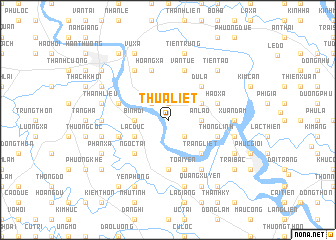map of Thừa Liệt