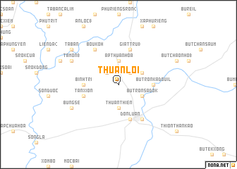 map of Thuận Lợi
