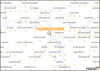 map of Thunau am Kamp