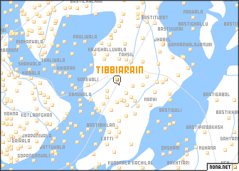 map of Tibbi Arain