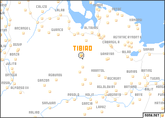 map of Tibiao