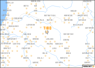 map of Tibo