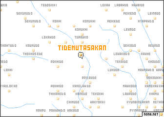 map of Tidemuta Sakan