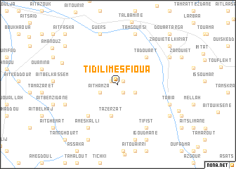 map of Tidili Mesfioua