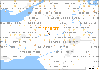 map of Tiebensee