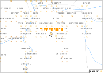 map of Tiefenbach