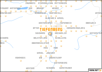 map of Tiefenberg