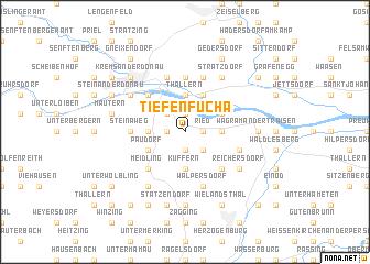 map of Tiefenfucha