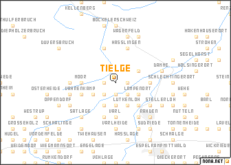 map of Tielge