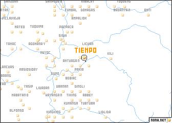 map of Tiempo