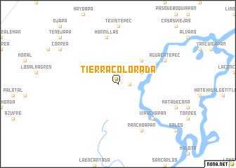 map of Tierra Colorada