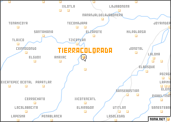 map of Tierra Colorada